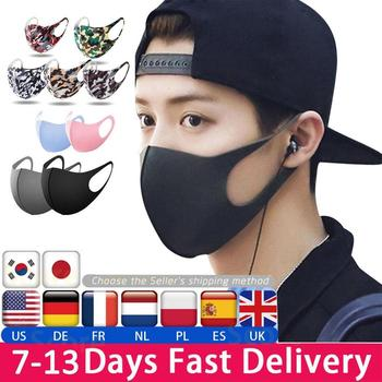 1/5/10/20/50pcs Breathable Mouth Mask Reusable Anti Pollution Unisex Thin Dust-proof Washable Mask Shield Wind Proof Mouth Cover
