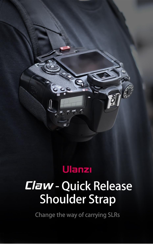 Ulanzi garra liberação rápida e instalar câmera