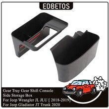 Caja de cambios lateral soporte de bandeja para Jeep Wrangler JL 2018 2019 gladiador JT 2020 caja de cambios bandeja de caja de almacenamiento para consola de caja de cambios