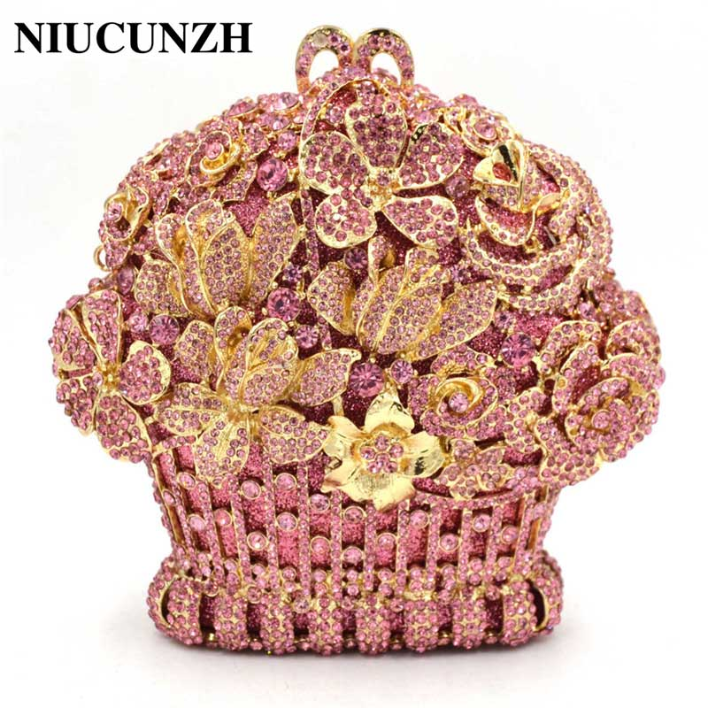 NIUCUNZH cristal sac luxe diamant chaîne fête mariage femmes soirée sacs embrayage Bolsa épaule sacs à main sac à main dames embrayages