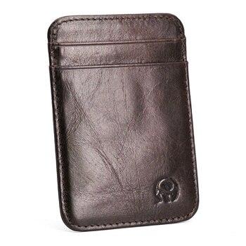 Δερμάτινο πορτοφόλι για πιστωτικές κάρτες σε διάφορα χρώματα