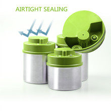 Vacuum Sealed  Container Press Type Stainless Steel Food Canister Kitchen Bottles Jars for Coffee Bean 1300 ml+1000 ml