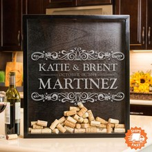 Personalized Wedding Guest Book Alternative -Gift for Wine Lovers, Wine Cork Shadow Box,Drop Box, Wine Cork Holder,Wine Cork Art wine country postcard book