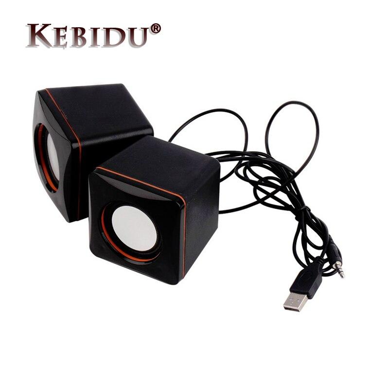 Kebidu Mini USB Falante Estéreo Simples Universal Speaker Portátil Áudio Music Player para o iphone para o iPad MP3 Laptop PC
