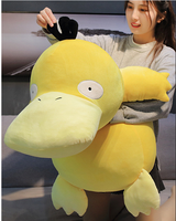 large 100cm lovely Pokemon figure plush toy cartoon down cotton lying posture duck soft doll hug pillow toy birthday gift s0028
