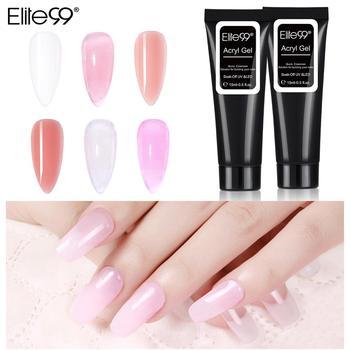 Elite99 15ml Poly Klar UV Gel Lack Nagel Kunst Gel Polnischen Schnell Gebäude Für Nägel Extensions Harte Gel polygel Nagel Gel