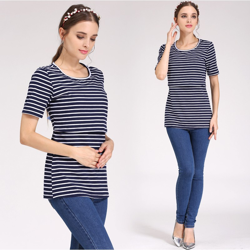 Emotion Moms Summer Maternity Tops Nursing Top Pregnancy Maternity Clothes Breastfeeding For Pregnant Women Nursing T shirt in Tees from Mother Kids