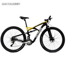 CATAZER Carbon Mountain Bike 26er Wheelset Suspension Frame 20 30 Speeds Profession Disc Brake MTB Bicycle