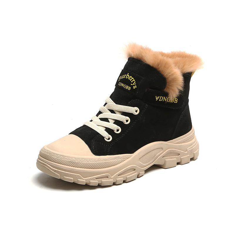 Kids Winter Fur Martin Boots Boys Girls Baby Toddler Ankle Boot Waterproof Shoes