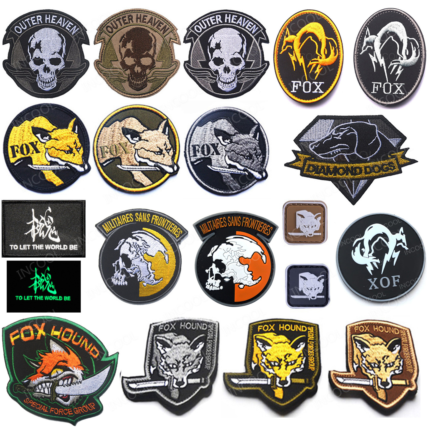 Badge Patch PVC Rubber Army Military Patches Morale Patch Hook /& Loop Patches