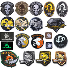 FOX PVC Embroidered Patches Tactical Military Patch Emblem Combat Rubber Embroidery Badges For Clothing Backpack Jackets