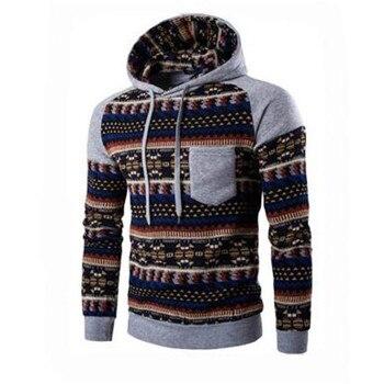 Hoodies Men 2019   Brand Male Long Sleeve Print Hooded Sweatshirt Mens Hoodie