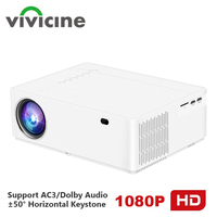 Vivicine M19 Upgrade M20 Newest 1080p Projector,Option Android 9.0 1920x1080 Full HD LED Home Theater Video Projector