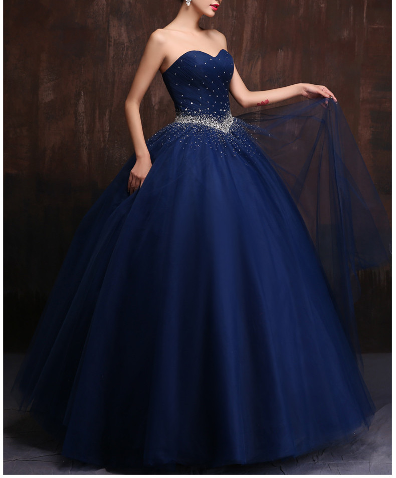 Custom Made Color And Size Vestidos De Noiva Royal Blue Wedding Gowns Navy Blue Wedding Dress Chinese Shopping Online