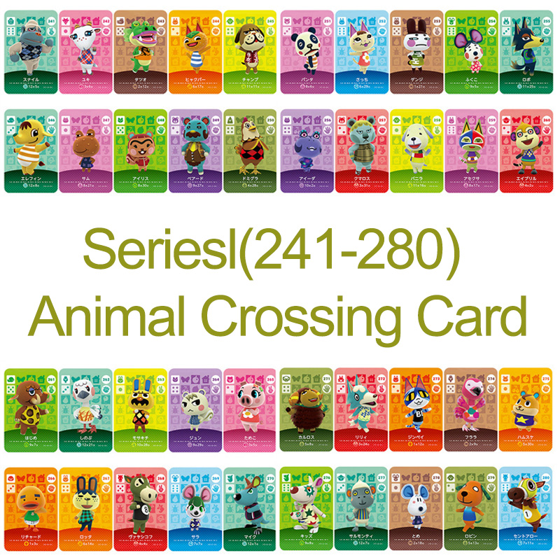 Amiibo Card NS Game Series 3 (241 To 280) Animal Crossing Card Work For