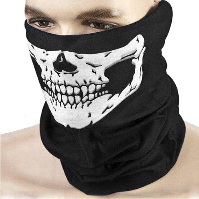 Outdoor Motorcycle Half Face Mask Skull Ghost Moto Mouth Face Masks Balaclava Shield Neck Protective Biker Scarf Masquerade 1