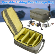 1 Pcs Fishing Reel Gear Bag Storage Case Oxford Cloth Dual Z