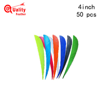 50pcs 4 Real Turkey Feather Water Drop archery Cut Arrow Fletching Hunting Shooting Diy Accessories