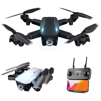 RC Drone LU6 With 1080P/4K HD Dual Camera Optical Flow Follow Hight Hold Mode Foldable Arm Quadcopter Pro RTF Dron Toy Gift
