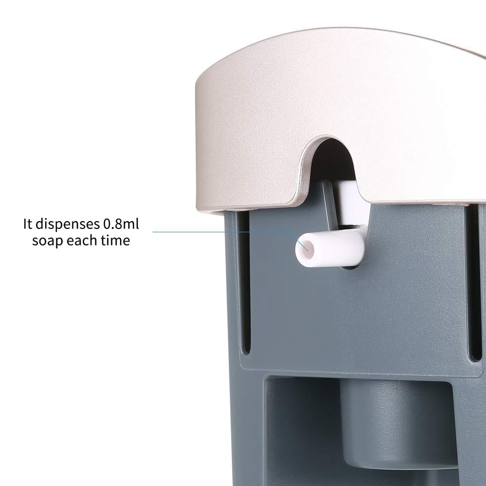 H2b86943d8dfd40a1858672d34299d4a1D Wall Mounted Single Head Wall Soap Dispenser Shower Gel Liquid Shampoo Disinfectant Dispenser Holder 300 ML For Hotel Home