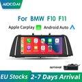 Apple CarPlay, 10,25 дюйма, беспроводной/проводной, Android, для BMW Series 5 F10 F11 F18, сенсорный экран