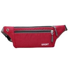Man Women Waterproof Sport Waist Pack Nylon Fanny Bum Bag Hip Money Belt Travel Running Mobile Phone Bags