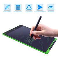 Tableau graphique électronique de Sketchpad de tablette d'écriture numérique d'affichage à cristaux liquides de 12 pouces avec le tapis de souris et la règle