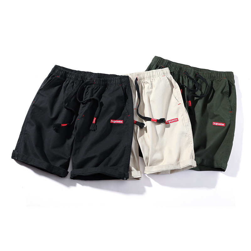 Men Short Pants Summer Pure Cotton 5 Shorts Loose Casual Trend Plus-sized Beach Shorts