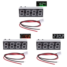 12 В 5-24 В светодиодный дисплей электронный Вольтметр термометр часы для автомобиля светодиодный модуль монитора и Прямая поставка