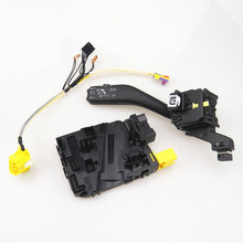 AZQFZ Steering Wheel Module+Cruise Control Switch+Harness Kit For VW Caddy Tiguan Golf