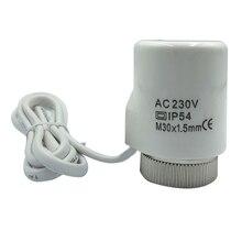 230V 2 Вт Электрический Термальность привод коллектор ПК практичная радиатор нормально открытый закрытый для напольного отопления дома термостат