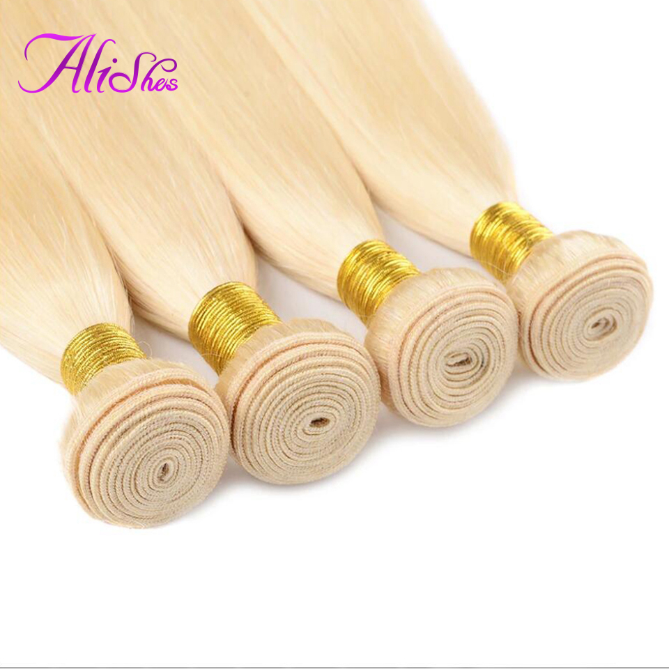 Promote½Bundles Straight 613 Blonde Hair Remy-Extensions Alishes Brazilian 10-26inch