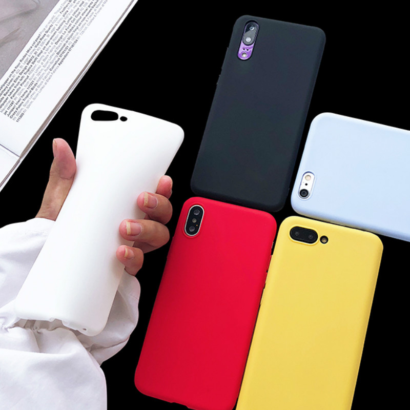 Matte Case For Huawei Mate 20X Cover Cases For Huawei P8 P9 P10 P20 P30 Lite Pro Mate 20 10 Lite Pro Candy Colors Silicone TPU