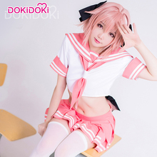DokiDoki Fate/Apocrypha Astolfo Cosplay Costume Anime Game Fate Sailor Uniform Women Cute Pink Dress