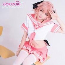Fate Cosplay Sailor-Uniform Astolfo Dokidoki Dress Anime Women Game Fate/apocrypha Pink