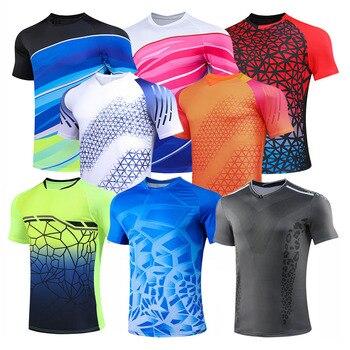 Теннисные рубашки для мужчин и женщин, настольный Теннисный комплект для девочек, униформа, футболка из полиэстера для бадминтона, одежда д...