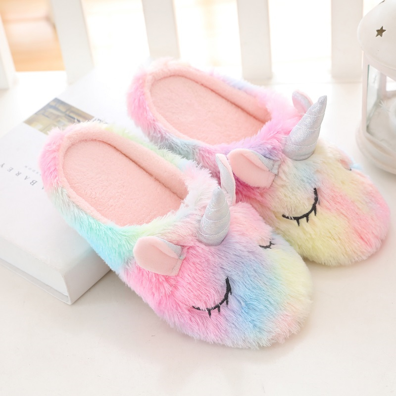Rainbow home indoor warm slipper 1
