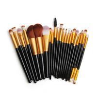 22Pcs Makeup Brushes Kit Loose Powder Foundation Brush Eyeshadow Eyelash Lip Brush Cosmetic Brush Kit