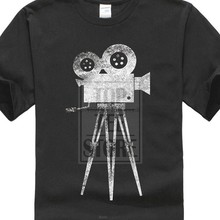 Quality Print New Summer Style Cotton Camera Cameraman Filmmaker Movie Director T Shirt Tee(China)