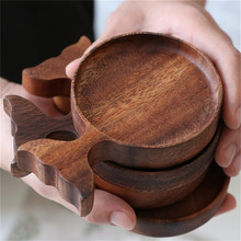 Sauce Dishes Wooden Japanese-Style Dipping Bowls Seasoning-Dish Appetizer-Plates Fish-Shape