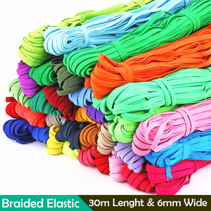 Round Elastic Rope Rubber-Band Sewing-Accessories 30m Colorful DIY 6mm Sewing Cord Craft Braided Knit-Band Mask-Making