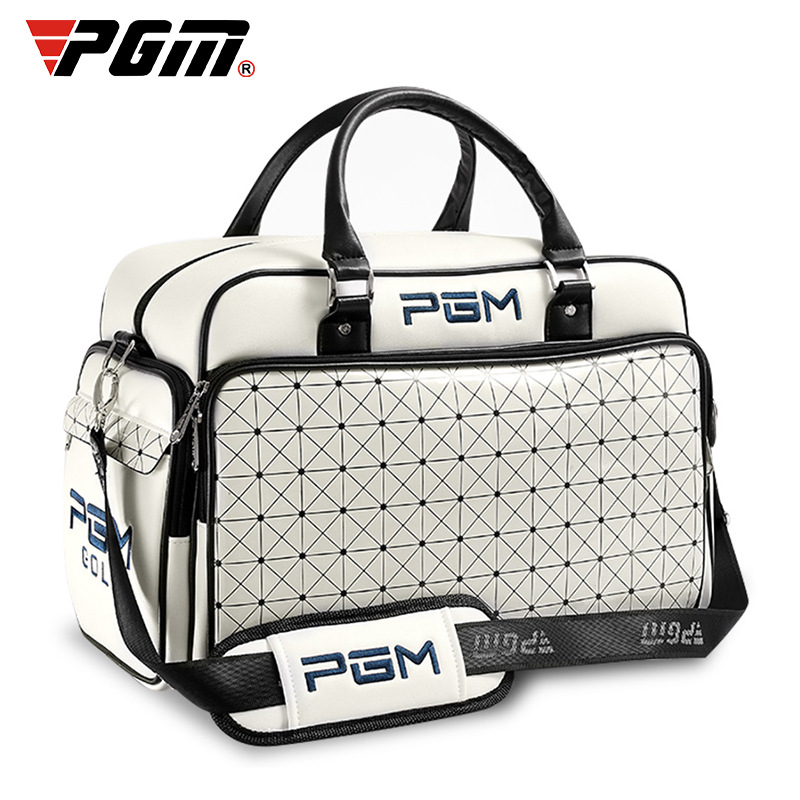 1 Pcs Golf Clothing Bag PGM Women's Portable Waterproof PU Ball Bag Large Capacity Independent Shoe Bag