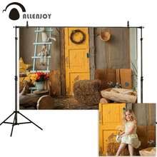 Allenjoy осенние фотографии фоны ферма сарай деревянная дверь