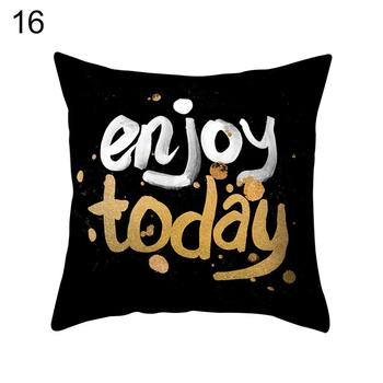 Sofa Bed Pillow Case Positive Letters Print Throw Cushion Cover Home Cafe Decor Car decoration decoration on your sofa image