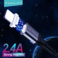 KUULAA-Cable magnético de carga rápida para móvil, Cable de carga rápida USB para iPhone 12, 11 Pro, X, XR, SE, 8, 7, 6 Plus