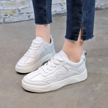 High Top Sneakers PU Casual Shoes White Flat Female Vulcanized Shoe Lace Up Solid Casual White Chaussure Femme Shoes Woman C0093 2017 hot selling crystal embellished woman casual shoes round toe white leather flat shoes lace up flat shoes high top shoes