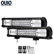 432W 16Inch Off-road Light Bar Work for Driving Offroad Boat Tractor Truck 4x4 SUV ATV 12V 24V Car Motorcycle Trailer Lamp
