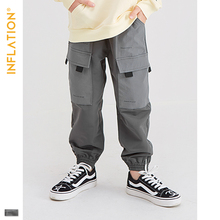 INFLATION KIDS 2019 AW Casual Jogger Pants Kids Clothes 5T -10T Casual Jogger Pants Loose Style Boy Legging Jogger Pants 19909A цена