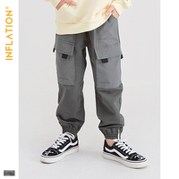 INFLATION KIDS 2019 AW Casual Jogger Pants Kids Clothes 5T 10T Casual Jogger Pants Loose Style Boy Legging Jogger Pants 19909A