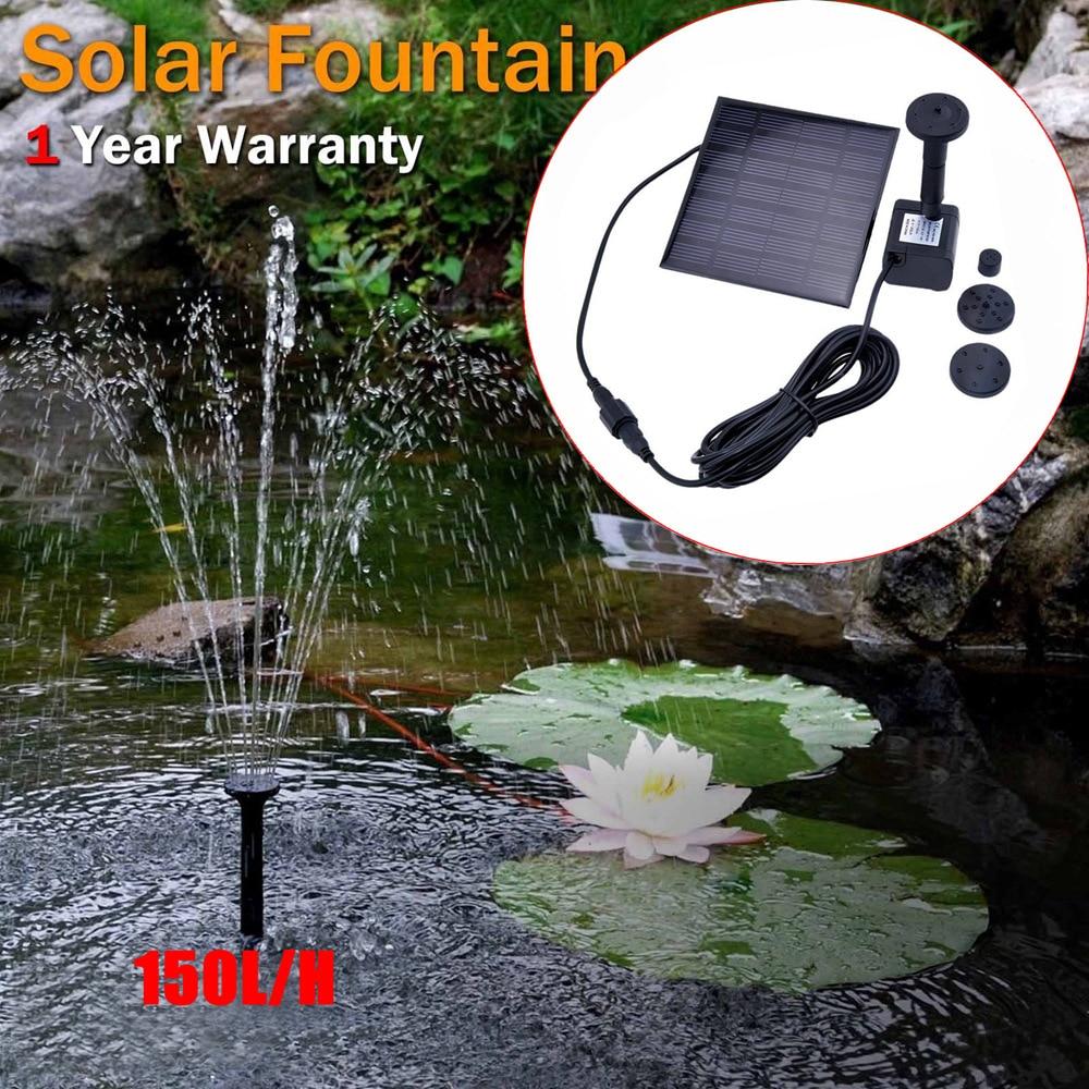 Square Solar Fountain 1.2W Home Fountain Garden Fountein Waterfall Garden Decorations Fountein Water Source Drop Shipping